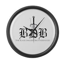 BDB Dagger Logo Large Wall Clock