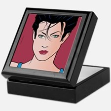 Pop Art Girl Sara Keepsake Box