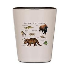 Wyoming State Animals Shot Glass