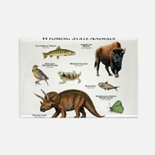 Wyoming State Animals Rectangle Magnet