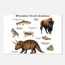 Wyoming State Animals Postcards (Package of 8)