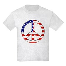 Peace Sign American flag - Kids T-Shirt