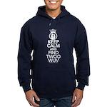 Keep Calm and Find Twoo Wuv Hoodie (dark)
