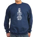 Keep Calm and Find Twoo Wuv Sweatshirt (dark)