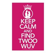 Keep Calm and Find Twoo Wuv Postcards (Package of