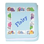 Personalised Baby Blanket Sleepy Animals