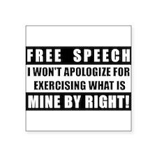 Absolute Free Speech Rectangle Sticker