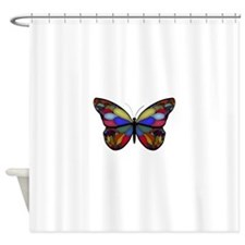 Mosaic Butterfly Shower Curtain