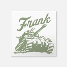 "frank the Square Sticker 3"" x 3"""