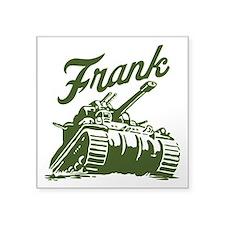 "Frank the Tank Square Sticker 3"" x 3"""