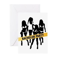 Bachelor Party Police Tape Greeting Card