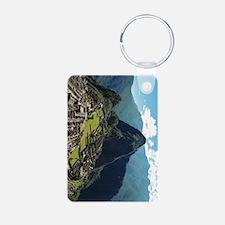 Machu Picchu Aluminum Keychain / 2 Sides