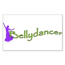 Bellydancer Purple Lime Oval Decal