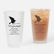 The Pit and The Pendulum .png Drinking Glass