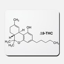 Delta 9 THC Molecule Mousepad