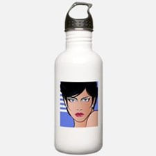 Pop Art Girl Bettina Water Bottle