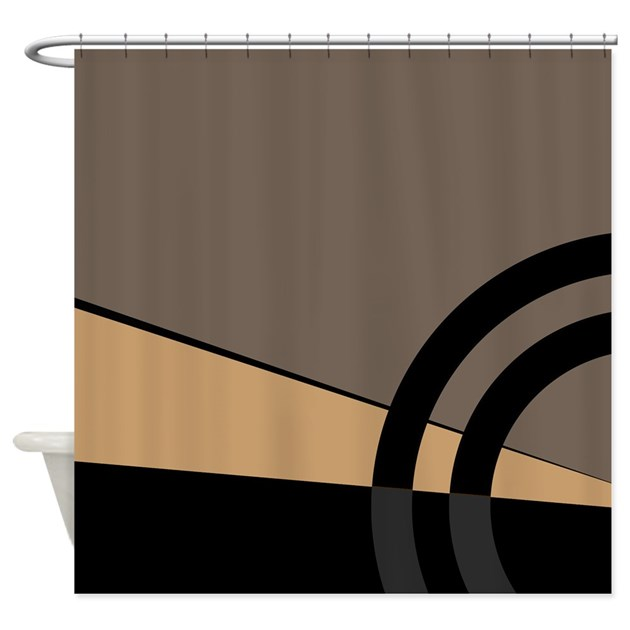 Tan And Gray Majestic Shower Curtain By KinnikinnickToo