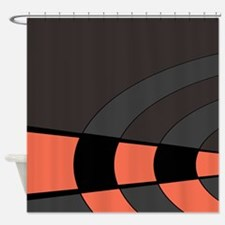 Stunning Peach And Gray Shower Curtain Contemporary - 3D house ...