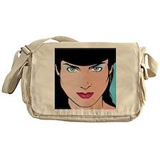 Pop Art Girl Erin Messenger Bag