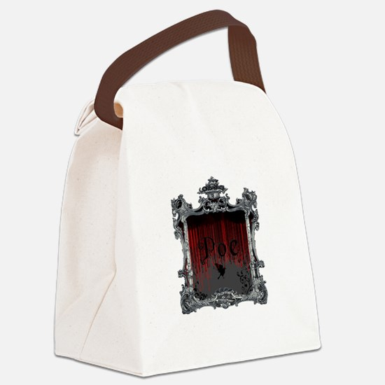 Edgar Alan Poe Canvas Lunch Bag