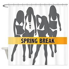 Spring Break Girls Shower Curtain