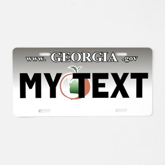 Georgia 2005-2008 aluminum license plate replica