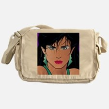 Pop Art Girl Veronica Messenger Bag