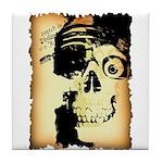 Halloween Skull Pirate Tile Coaster