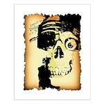 Halloween Skull Pirate Small Poster