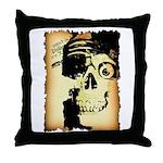 Halloween Skull Pirate Throw Pillow