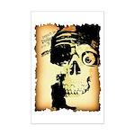 Halloween Skull Pirate Mini Poster Print