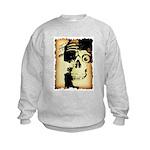 Halloween Skull Pirate Kids Sweatshirt