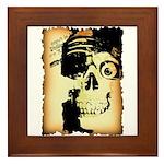 Halloween Skull Pirate Framed Tile