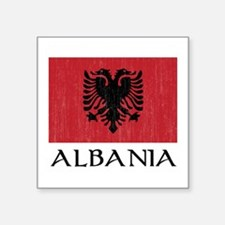 "Albania Flag Square Sticker 3"" x 3"""