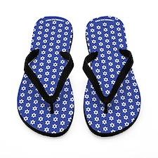 Mogen David (white stars on dark blue) Flip Flops