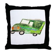 Color pencil drawing by Noah Filk. Throw Pillow