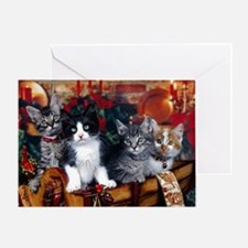 Cool Xmas cat Greeting Card