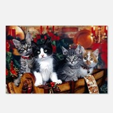Funny Cat christmas Postcards (Package of 8)
