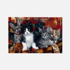 Cute Cat christmas Rectangle Magnet