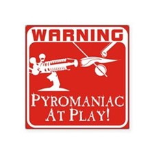 Pyromaniac At Play Rectangle Sticker