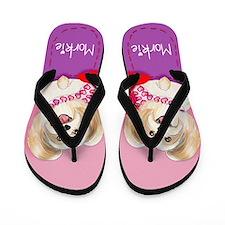 Morkie Valentine Flip Flops