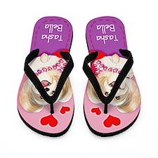 Tasha bella Morkie Flip Flops