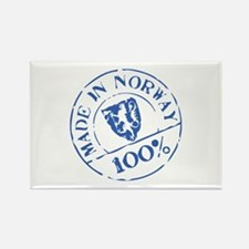 Made In Norway Rectangle Magnet