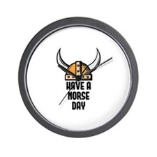 Have a norse day - Viking Wall Clock