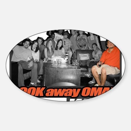 LOOKawayOMAR Sticker (Oval)
