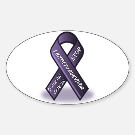 Domestic Violence Victim to Suvivor Sticker (Oval)
