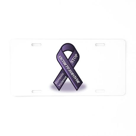 Domestic Violence Victim to Suvivor Aluminum Licen