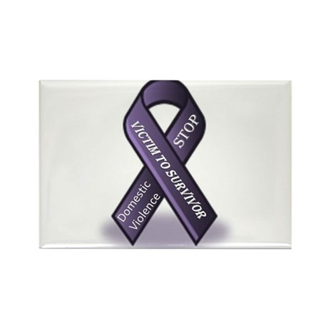 Domestic Violence Victim to Suvivor Rectangle Magn