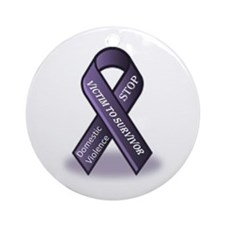 Domestic Violence Victim to Suvivor Ornament (Roun