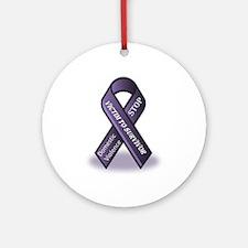Domestic Violence Victim to Suvivor Ornament (Roun